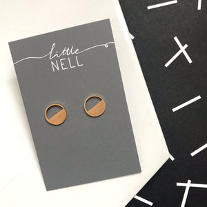 Gold or Silver Half Circle Studs