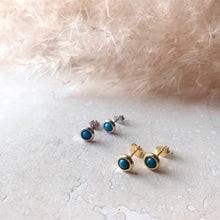 Load image into Gallery viewer, Gold or Silver Turquoise Studs