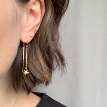 Load image into Gallery viewer, Star Threader Chain Earrings