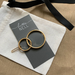 Double Circle Hair Clip