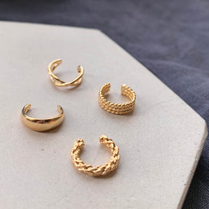 Twisted Rope Gold Ear Cuff