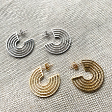 Load image into Gallery viewer, Triple Circle Hoop Earrings in Gold or Silver