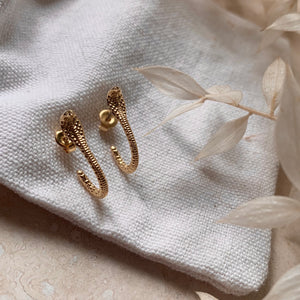 Gold Snake Wrap Earrings by Little Nell Jewellery