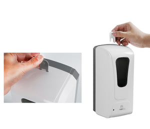 Touchless Hand Sanitizer Spray Dispenser w/ Stand + Refill Bundle