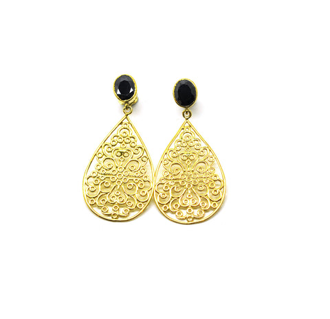 ON SALE  Long Filigree earring