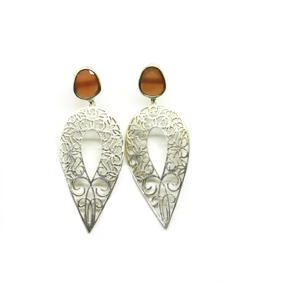 ON SALE - Long Filigree earring