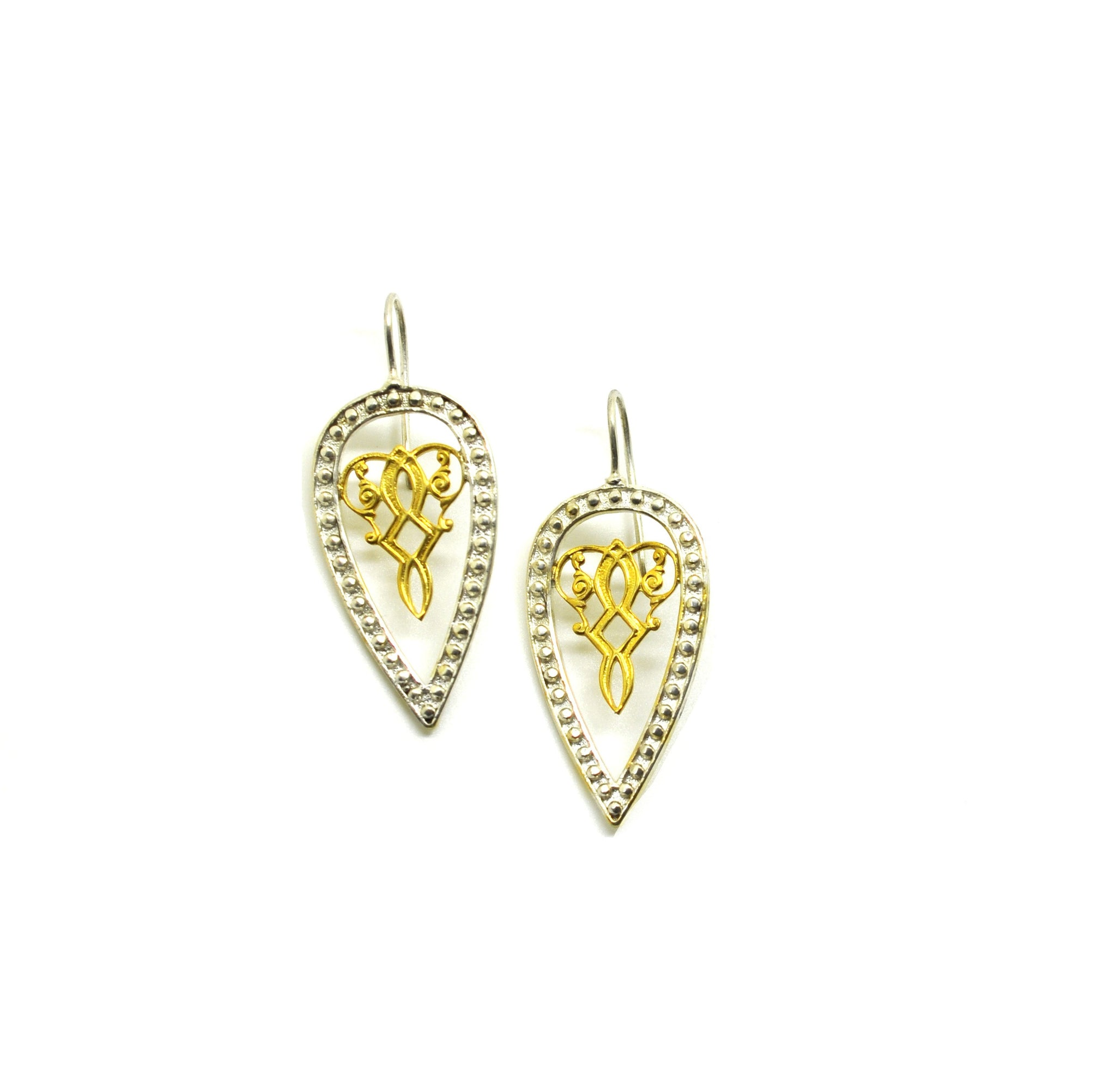 Filigree  -Two tone earring 2
