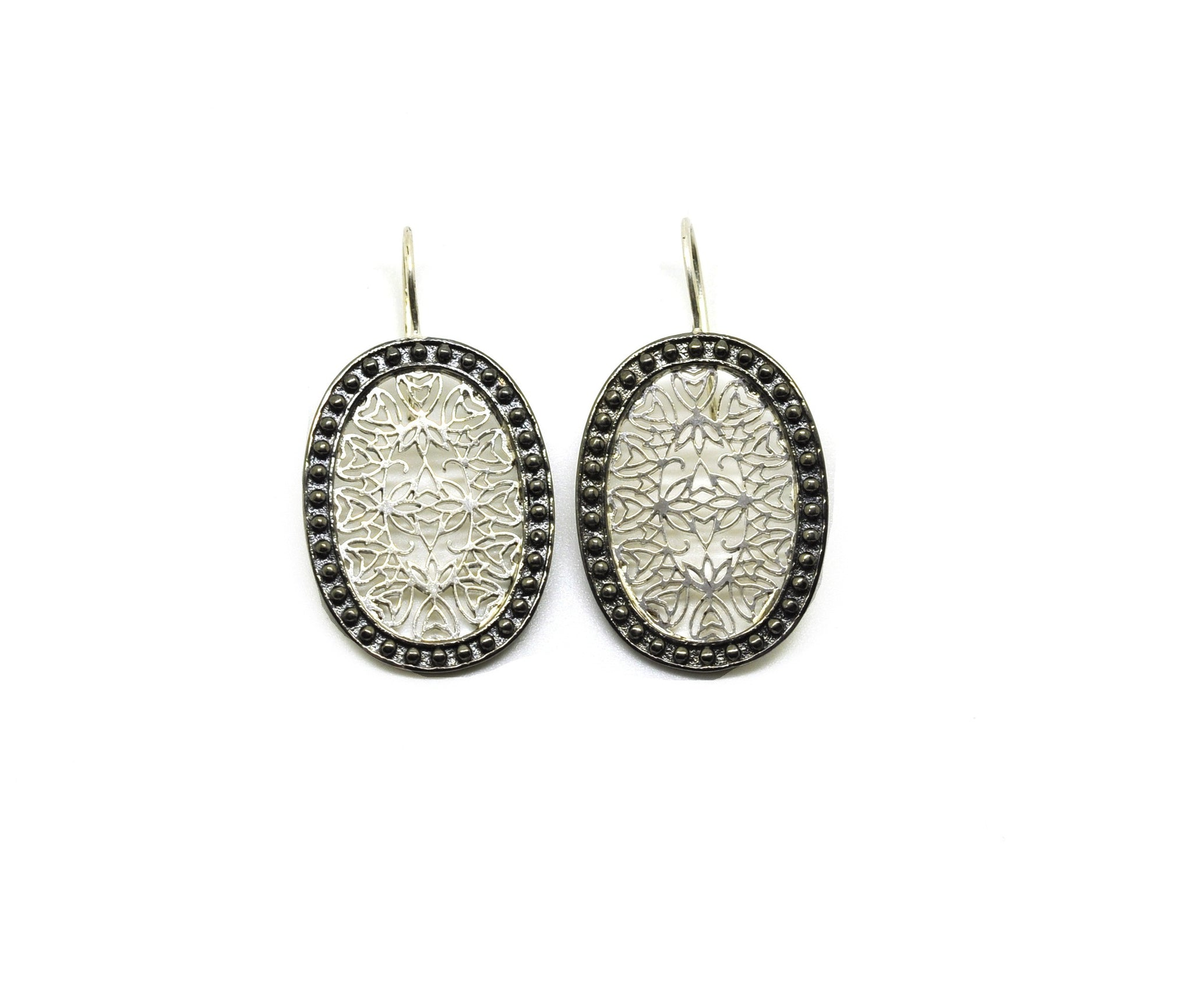 ON SALE Dual tone oval filigree 2