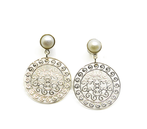 NEW round filigree earring 5