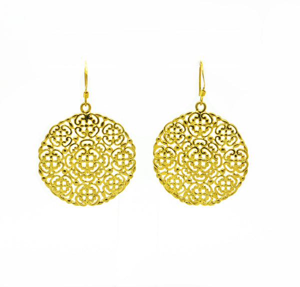 SOLD - NEW Round filigree earring 2