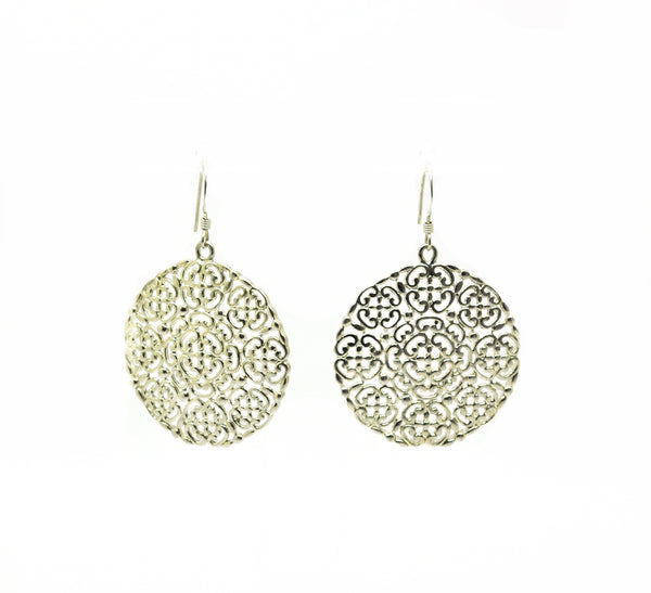 SOLD - NEW Round filigree earring 1