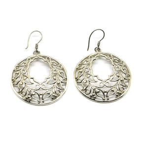 ON SALE Moroccan shape round filigree