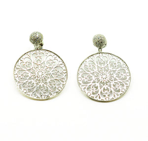 NEW round filigree earring 7