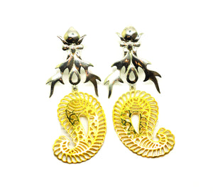 ON SALE Fire Filigree earring 2