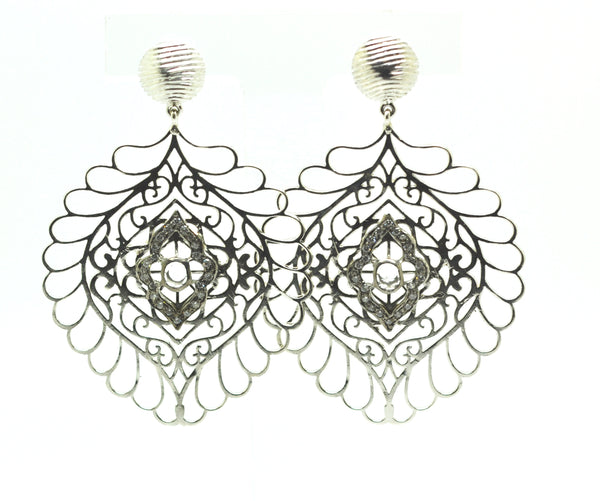NEW Antique large filigree earring