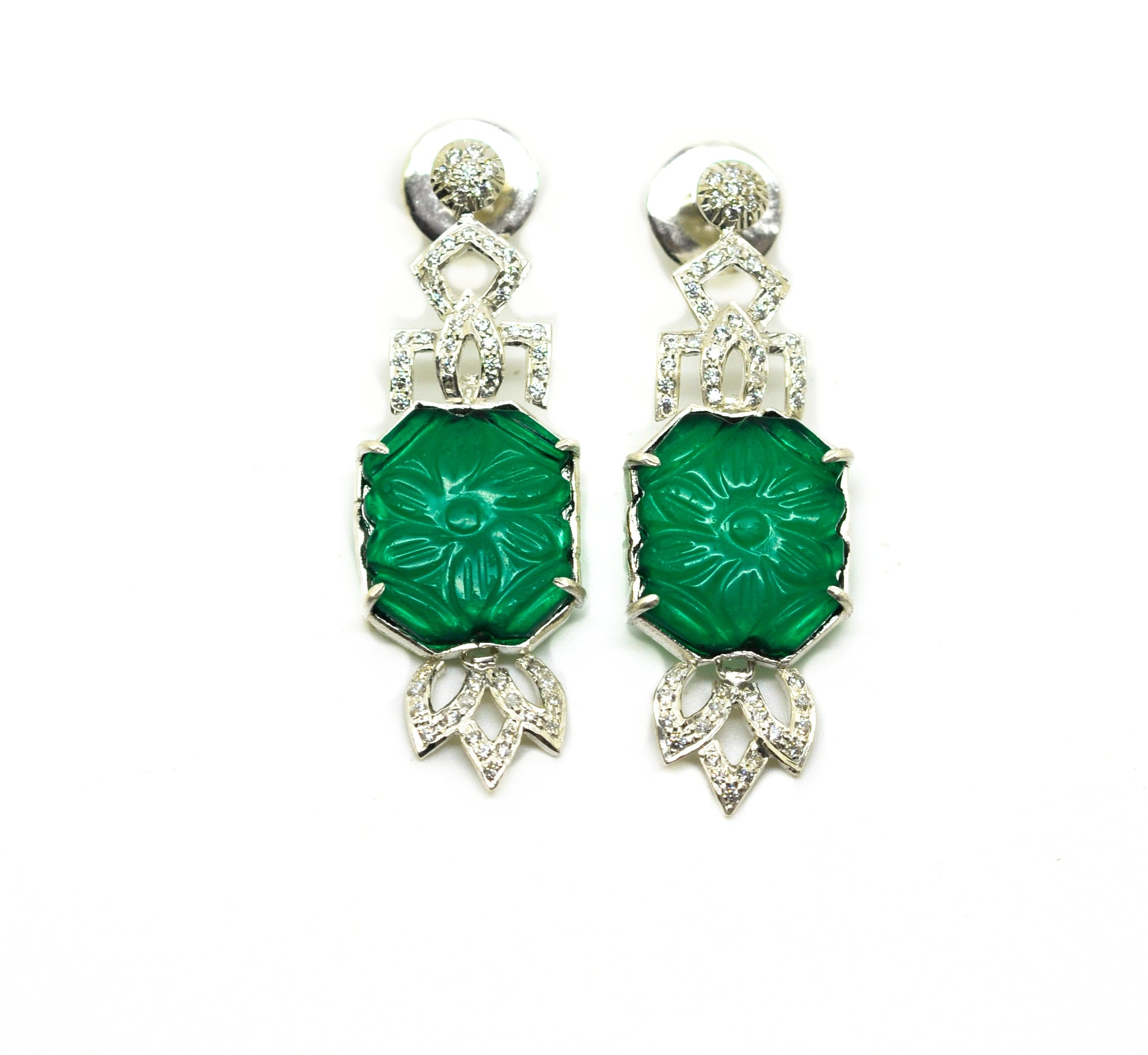 SOLD - 20 in 2020 AD Green quartz earring