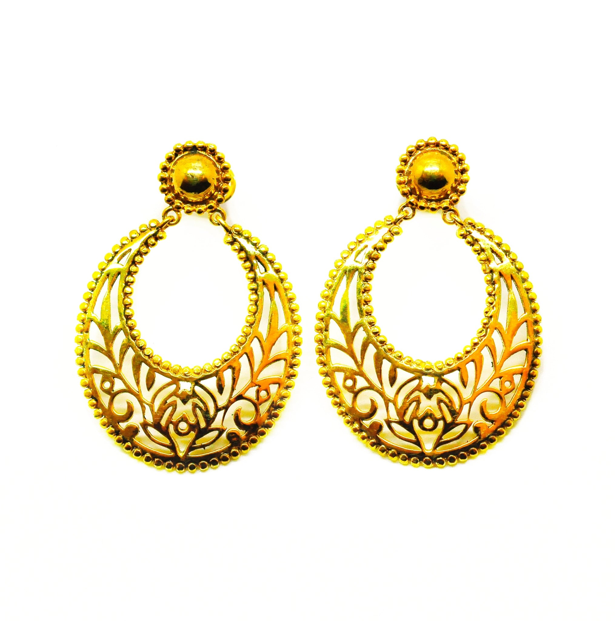 SOLD -NEW Indian filigree 6 - Gold
