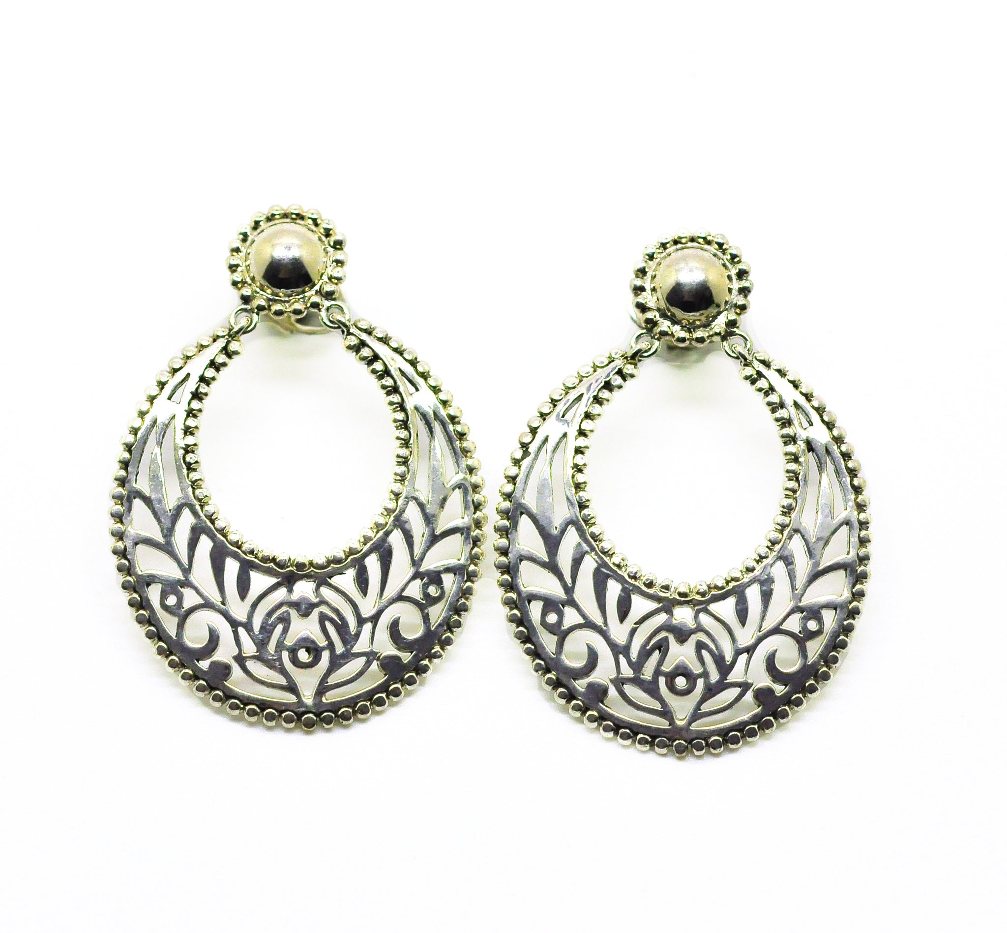 SOLD -ON SALE Indian Filigree 6 - Silver