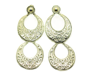 NEW Indian filigree long earring 5