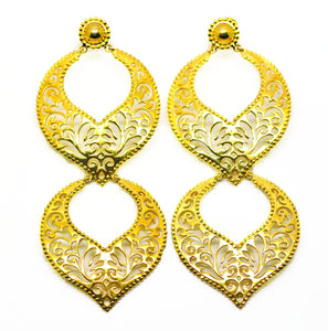 ON SALE Indian filigree long earring 2
