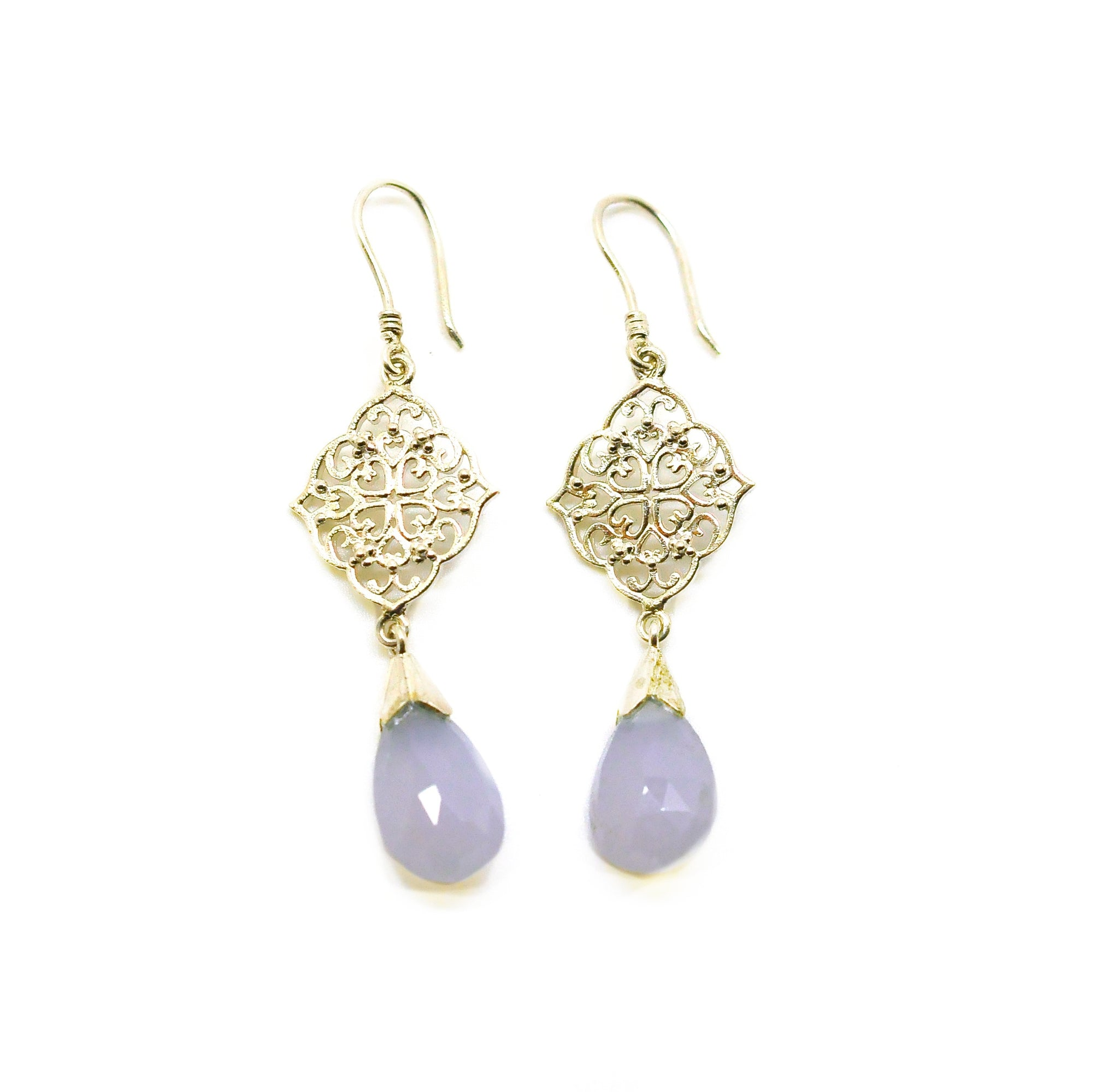 SOLD - NEW Victorian filigree chalcedony