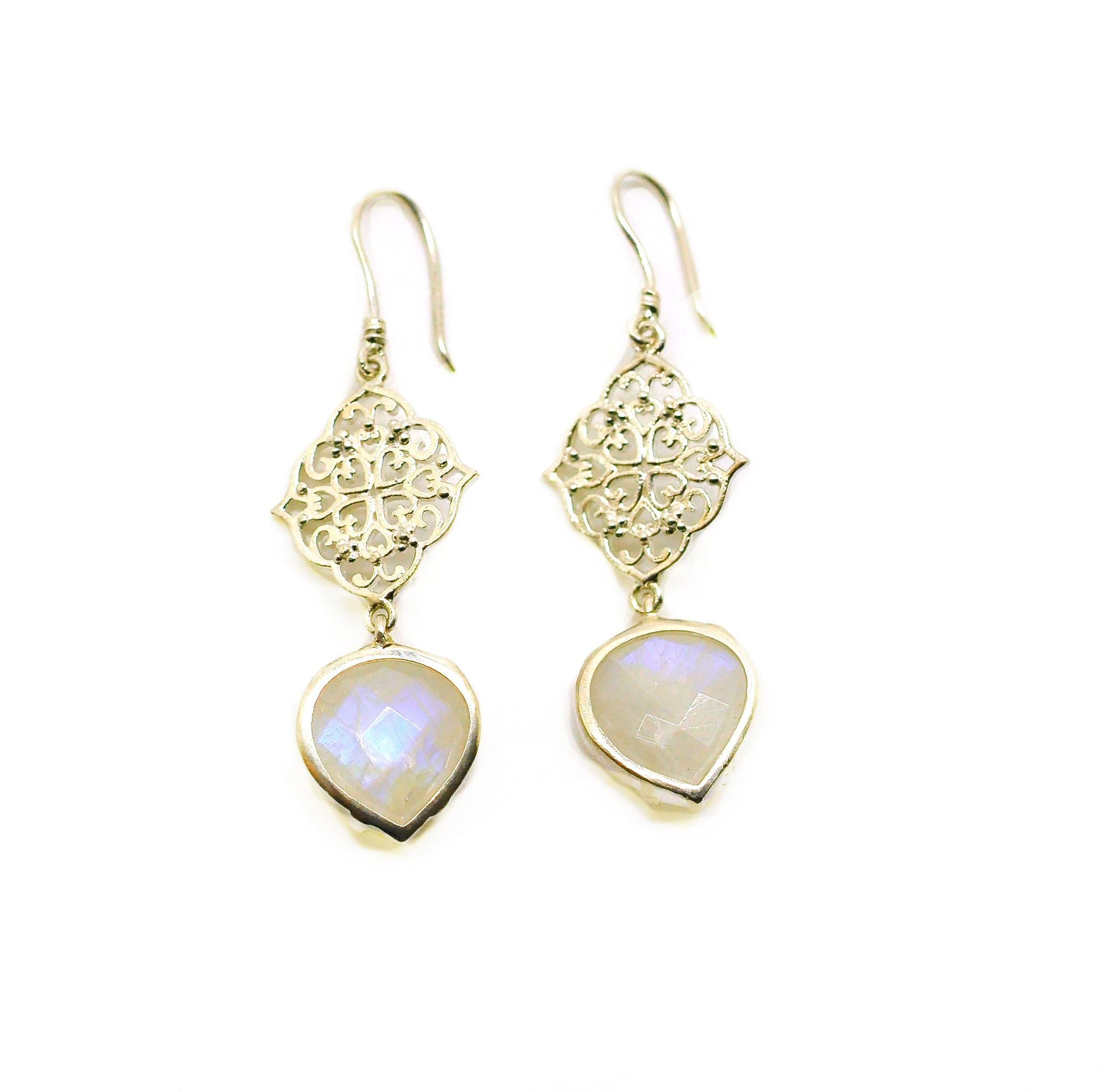 SOLD - NEW Victorian filigree moonstone