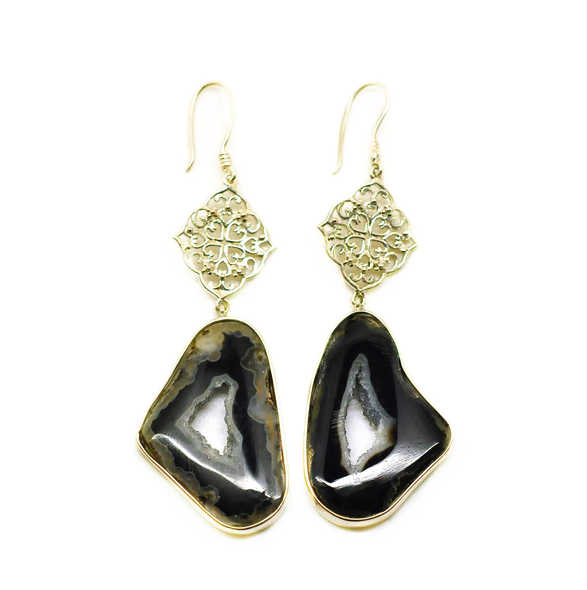 SOLD - NEW Druzy earring Black