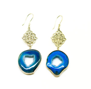 NEW Druzy earring Blue 2