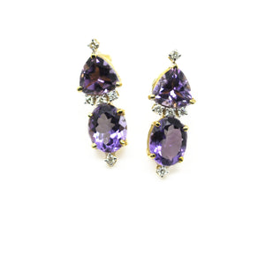 20 in 2020 Amethyst and Diamond earrings