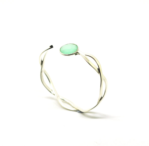 ON SALE Twisted cuff - Aqua (Clearance)