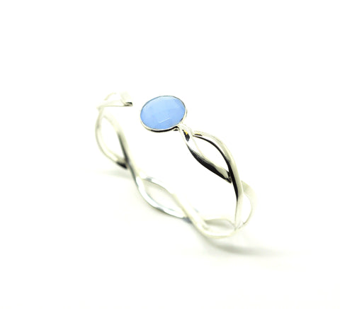 SOLD - ON SALE Twisted cuff- Blue