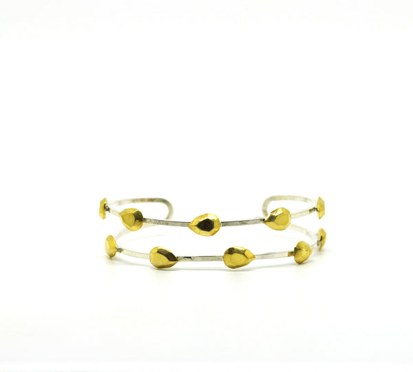 ON SALE Thin two tone cuff 1