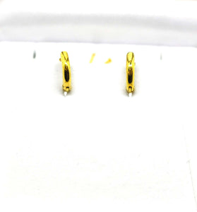 SOLD - For little ears - Gold Hoops