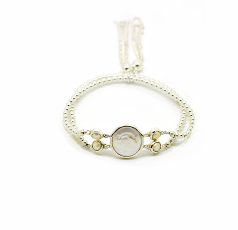 SOLD - NEW Stretch coin pearl bracelet