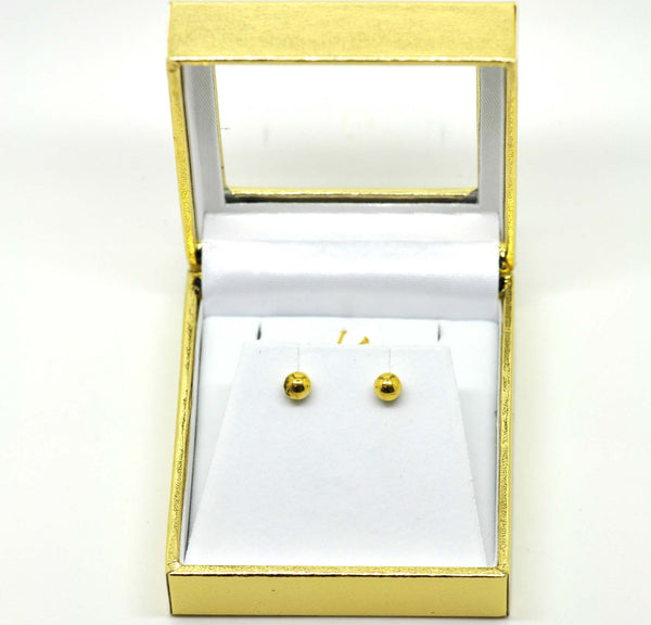 For little ears - Gold ball earring 2