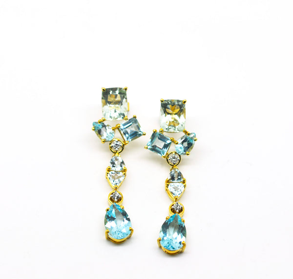 ON SALE Multi gemstone earring (clearance)