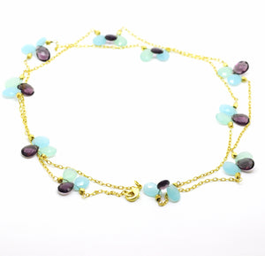 ON SALE Amethyst and Chalcedony Necklace 2 (CLEARANCE)