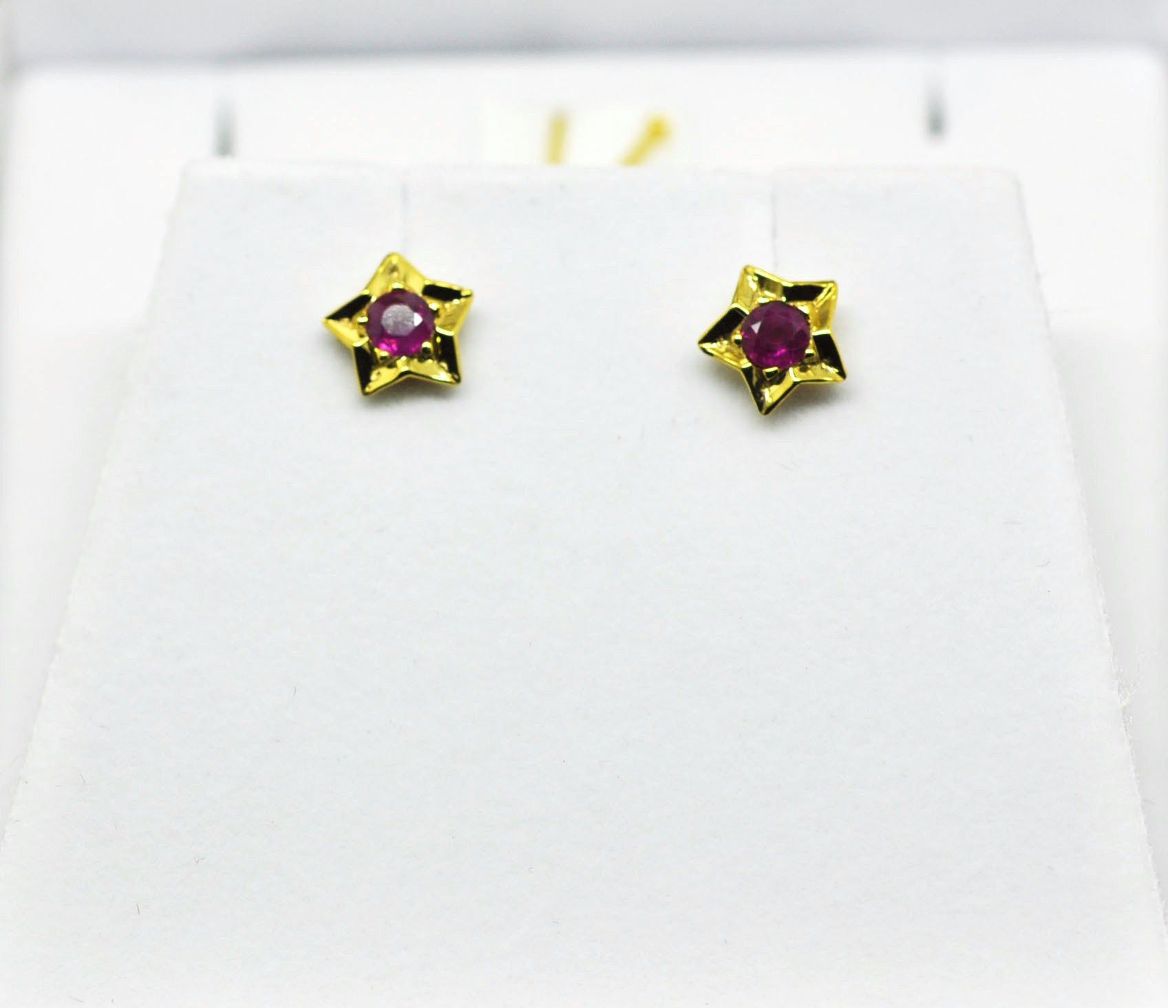 For little ears -Ruby earring
