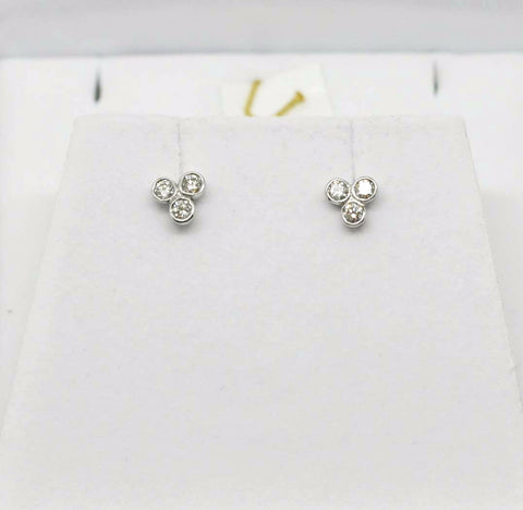 For little ears - Diamond earrings SOLD