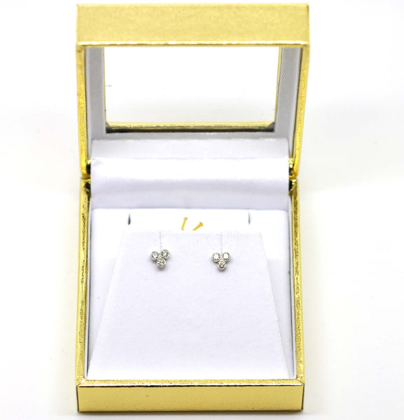 SOLD For little ears - Diamond earrings
