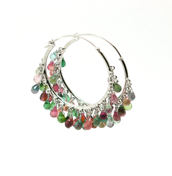 ON HOLD - NEW Tourmaline Hoops
