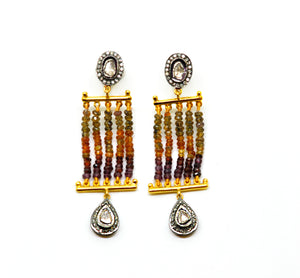 NEW Tourmaline Polki earring