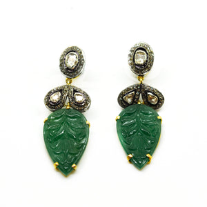 20 in 2020 -  Carved Aventurine Polki earring