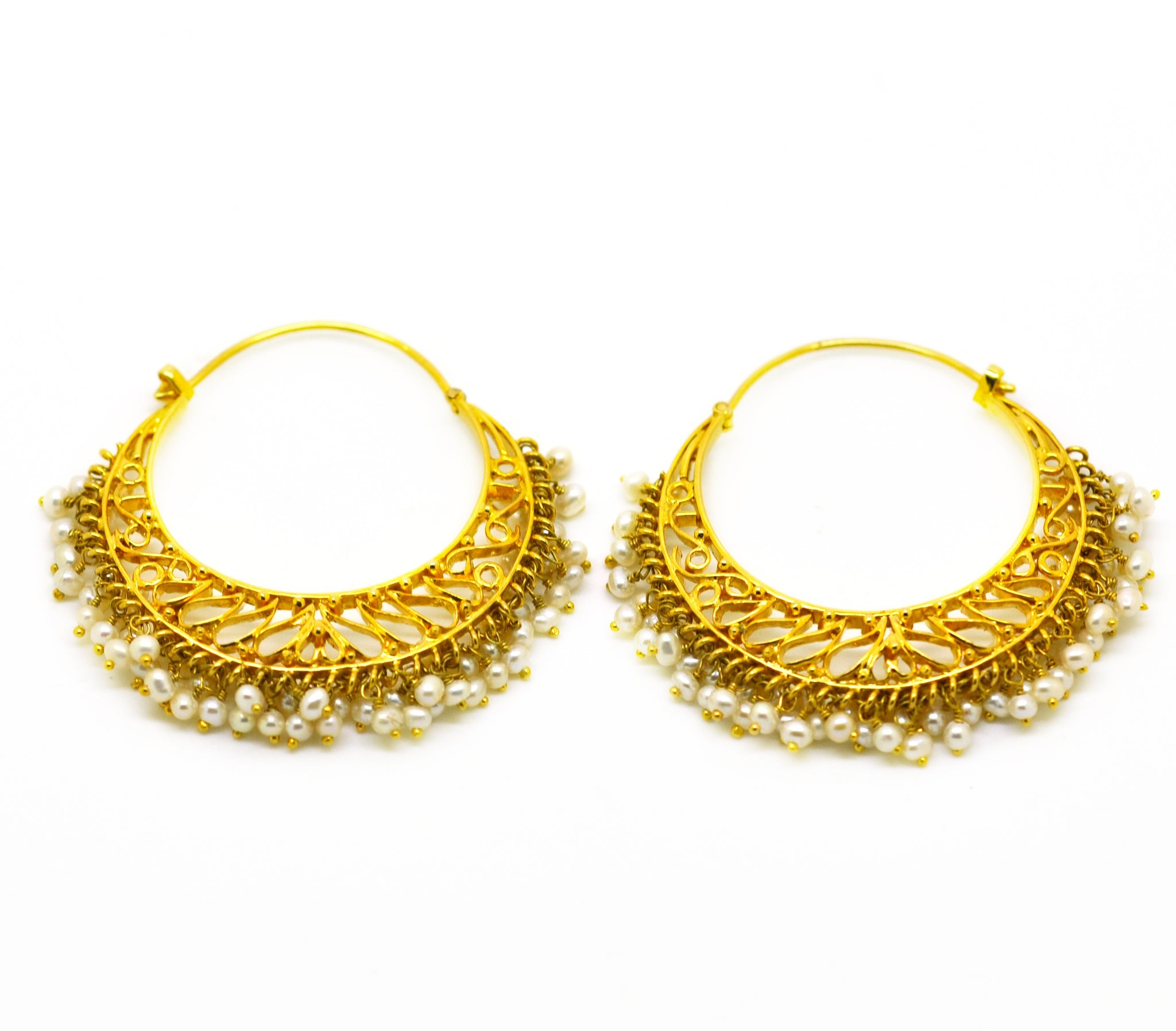 NEW Gold Filigree Hoops