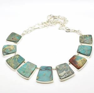 ON SALE Serpentine necklace