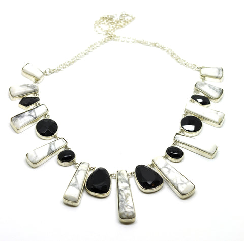 SOLD - ON SALE Howlite necklace