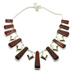 ON SALE Red Jasper Necklace