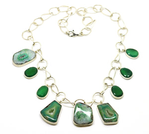Green Druzy Necklace