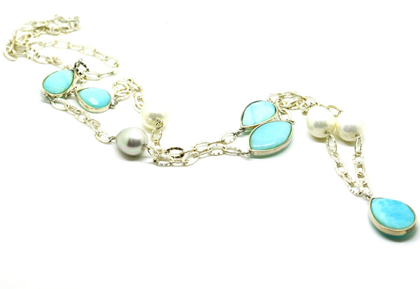 ON SALE - Blue Opal Necklace