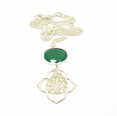 SOLD - ON SALE Filigree pendant necklace